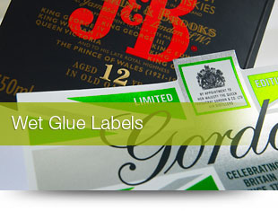 Wet glue labels